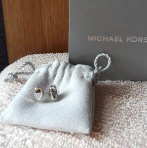 Michael kors  diamond lock earrings
